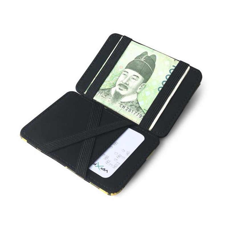 KUDIAN oso camuflaje mágico Tarjetero Mini carteras mujeres hombres tarjeta de crédito caso monedero de cuero de PU Tarjetero BIH200 PM49