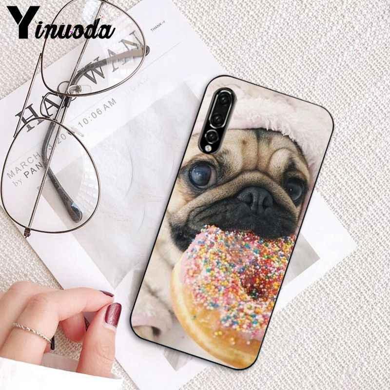 Yinuoda животных милая собака мопс для чтения, чехол для телефона для huawei P20 P30 P20Pro P20Lite P30Lite P Smart P10Lite