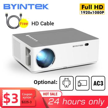 BYINTEK-Projektor K20 1920 #215 1080 p Full HD 4K 3D Android Wi-Fi LED laserowy do kina domowego smatrfona tanie i dobre opinie Instrukcja Korekta CN (pochodzenie) Projektor cyfrowy 16 09 150W Brak 500 ANSI lumens System multimedialny 1920x1080 dpi