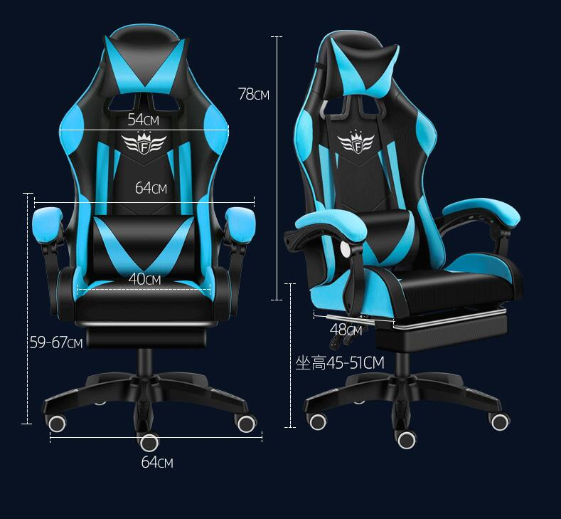Gaming Chair Ergonomic Computer Desk Chair Adjustable Swivel Chair Office Racing Chairs Game Seat Lumbar Support and Headrest