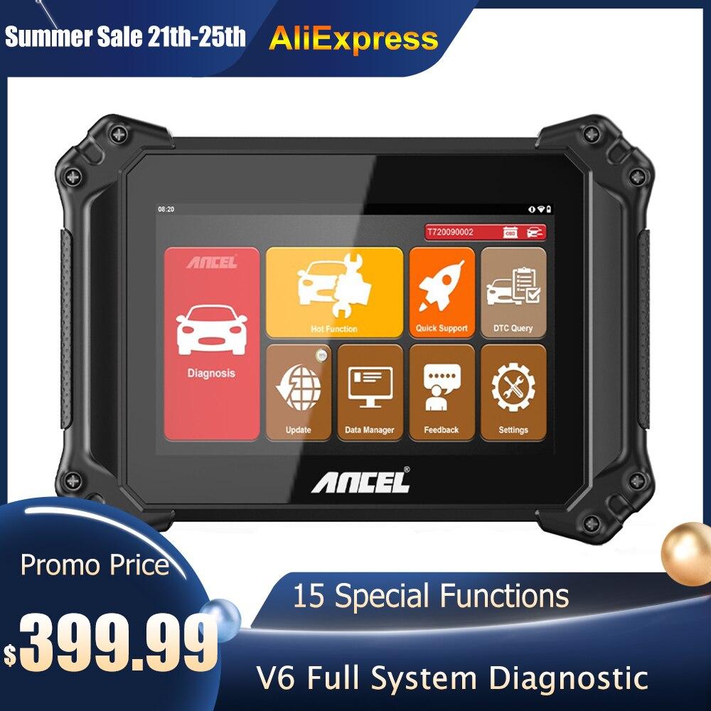Диагностический сканер Ancel V6 OBD2, профессиональный полный диагностический инструмент для автомобиля, DPF ABS Oil IMMO Reset OBD 2