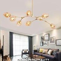 Nordic LED Chandelier Lighting E27 Glass Lustre LOFT Dining Bedroom Bedroom Ball chandeliers Kitchen Fixtures Luminaire HangLamp