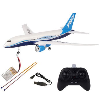2.4G 3CH DIY Remote Control Fixed Wing Airplane Passenger Plane Assembly Toy With Battery And LED Educational Toy For Kid Adult