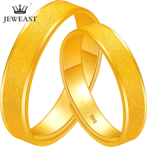Image 1 - BTSS 24K Pure Gold Ring Real AU 999 Solid Gold Rings Good Shiny Beautiful Upscale Trendy Classic Fine Jewelry Hot Sell New 2020