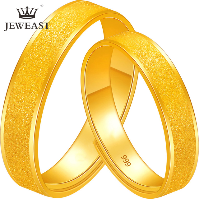 BTSS 24K Pure Gold Ring Real AU 999 Solid Gold Rings Good Shiny Beautiful Upscale Trendy Classic Fine Jewelry Hot Sell New 2020
