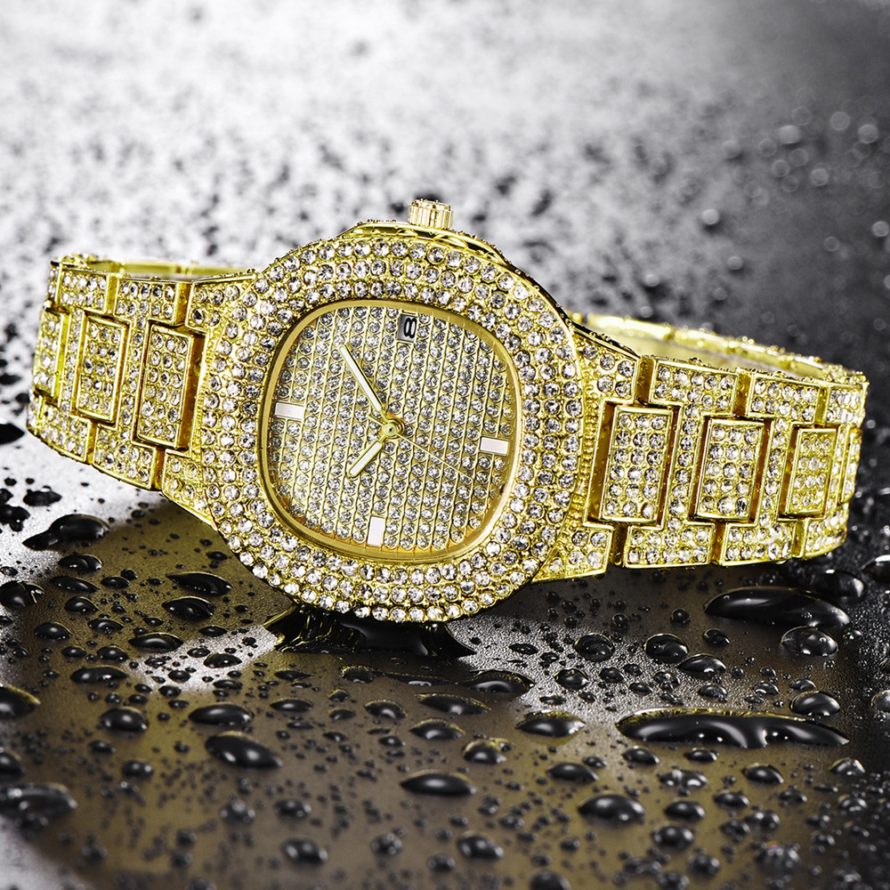dropshipping new 2020 hip hop watches for women iced out diamonds quartz watch female clock fashion wristwatches (4)