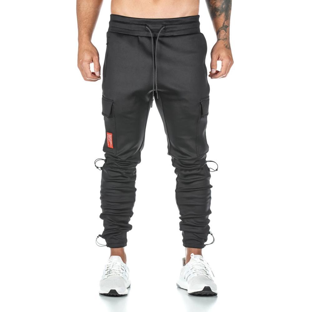 New Jogging Pants Men Solid Gyms Training Pants Sportswear Joggers Pants Men Running Cargo Pocket Pants Jogging Sweatpants