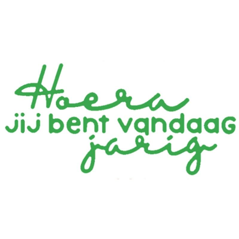 Hoera Jij Bent Vandaag Jarig Dutch Word Die Cuts For Cards Making Dutch Word Dies Scrapbooking Metal Cutting Dies New 2019