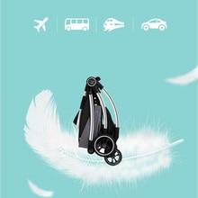 цена на High Landscape Baby Stroller 3 in 1 Shock Absorption Suspension Pink Stroller Reversible Portable Baby Trolley Traveling Pram