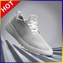 Air Mesh Sport Shoes For Men Running Training Shoes Lightweight Fashion Breathable Casual Sneakers Walking Jogging Tennis Shoes(China)