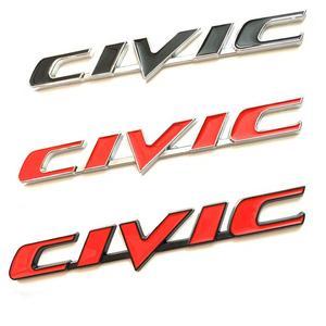 Image 1 - รถ3D โลหะ Emblem Badge สติกเกอร์สำหรับ Honda Civic รถด้านหลังหาง Trunk Letter โลโก้สติ๊กเกอร์ Decals อุปกรณ์เสริมรถยนต์จัดแต่งทรงผม