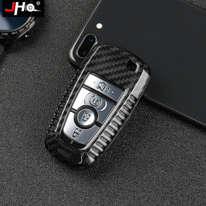 Image 1 - JHO REAL Carbon Remote Key Fob Shell Case Key Cover For Ford Explorer 2016 2019 2018 2017 XLT Limited Sport Car Accessories