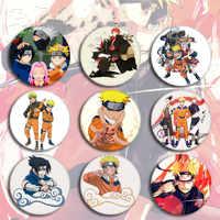 NARUTO Uzumaki Naruto Hatake Kakashi Uchiha Sasuke Cartoon Abzeichen Heiße Anime naruto Brosche Cosplay Zubehör