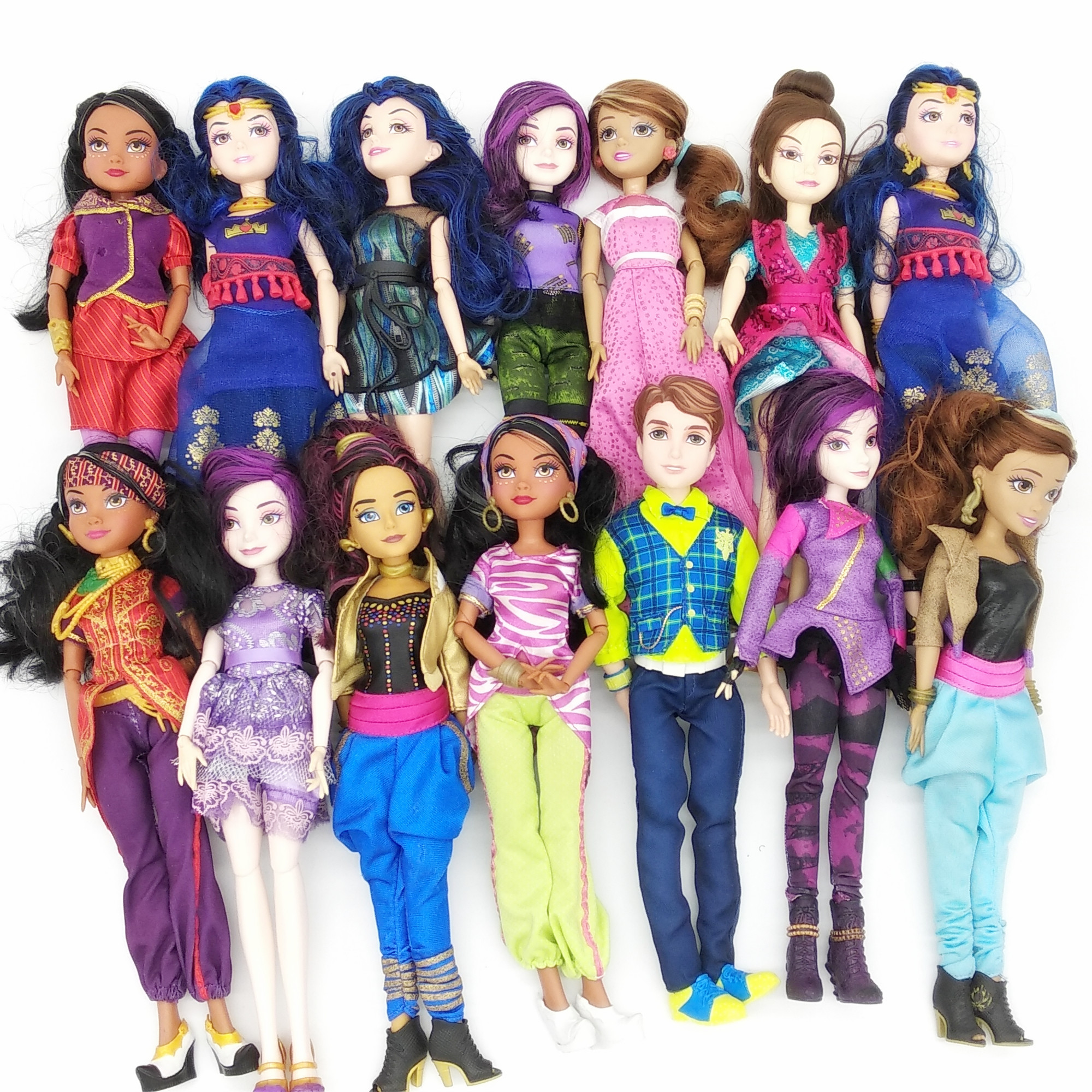 Cartoon Descendent Dolls Princess Morden Classic Action Figure  Body Joints Movable Dolls 30cm Toys For Girl Kids Gift Xmas