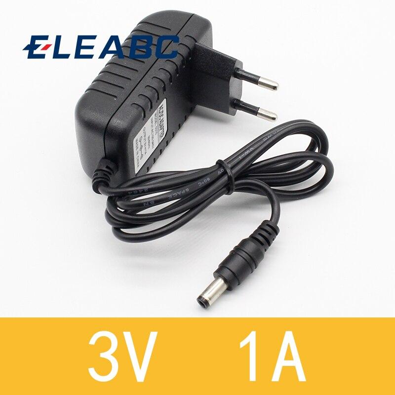 1 шт. Новый адаптер преобразователя переменного тока 3 в 1 А, зарядное устройство, штепсельная вилка европейского стандарта, 5,5 мм x 2,1 мм