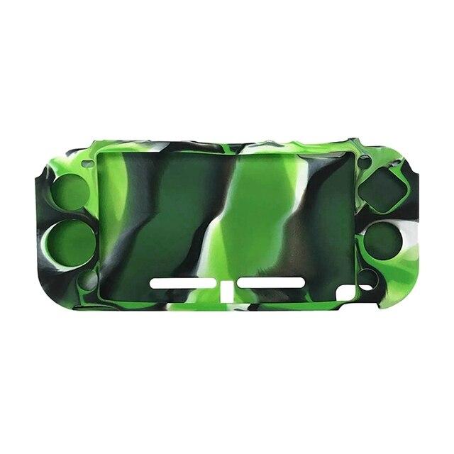 2x pour Nintendo Switch Lite Ultra mince souple en caoutchouc silicone coque peau housse de protection étui en Tpu (noir & Camouflage vert)