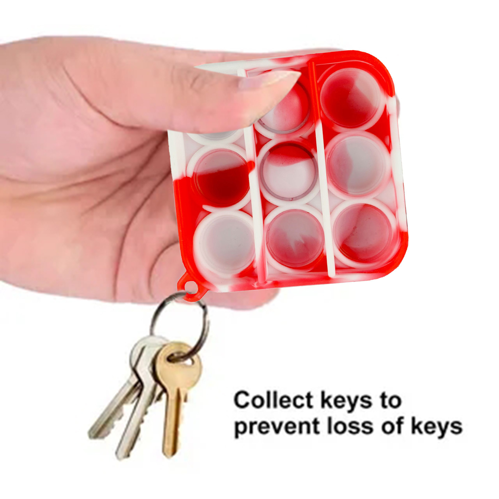 Fitget Toy Fidgets Simpel Dimpel Mini Anti-Stress-Board Pop-It-Keychain-Controller Kids img2