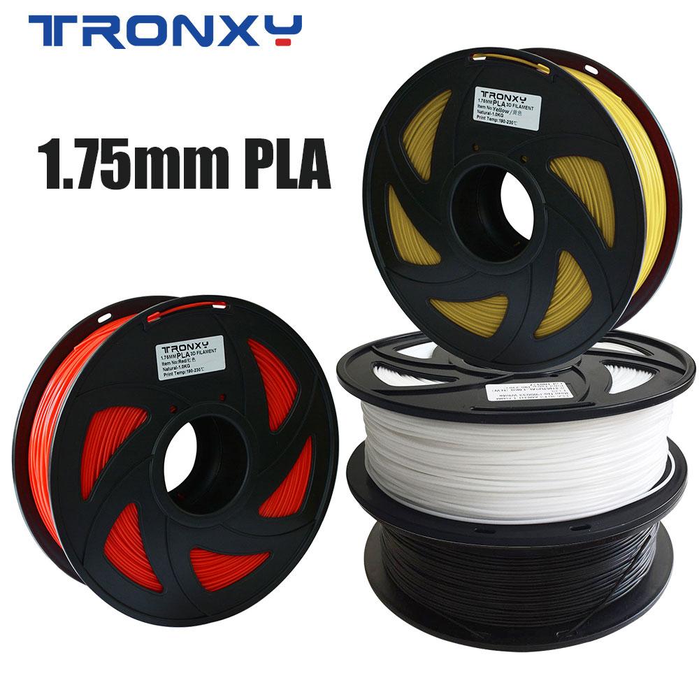 Tronxy 3d Printer Filament PLA 1.75 mm 1KG 2.2LBS 330 meters Colorful 3d Printer Pen Materials For 3d Printing Extruder No Jams