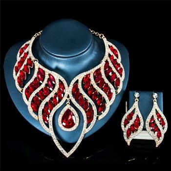 Luxury Waterdrop Crystal Jewelry Set 1