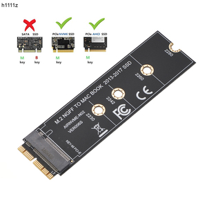 M.2 NVME SSD Convert Adapter Card for MacBook Air Pro Retina 2013-2017 NVME/AHCI SSD Upgraded Kit For A1465 A1466 A1398 A1502