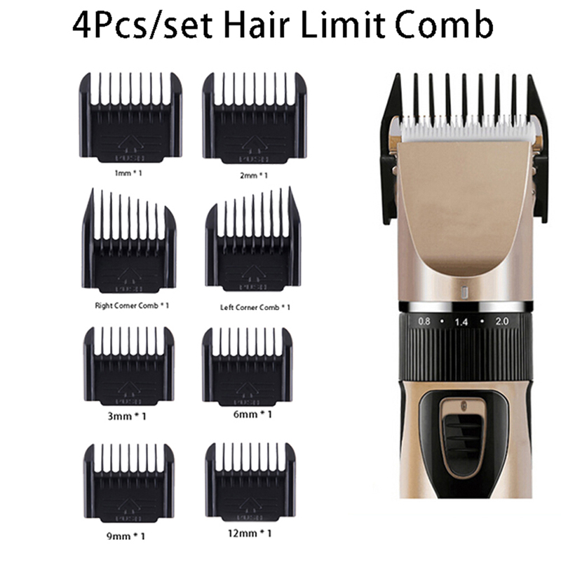 4Pcs/set Cutting Guide Comb Hairdressing Tool Set Professional Limit Comb Hair Trimmer Shaver