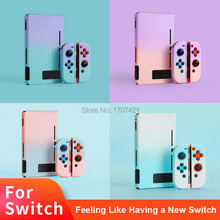 Detachable Coloful PC Shell Case For Nintendos Nintend Switch NS NX Cases Hard Protective Back Cover Shell Coque Ultra Thin