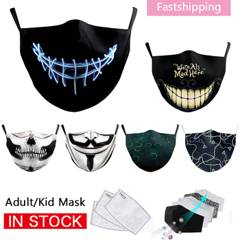 Joker Printed Adult Masks Reusable Washable PM2.5 Unisex Face Mask Outdoor Windproof Breathable Mouth Masks image
