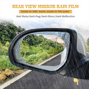 2pcs Rainproof Film Car Rearview Mirror Waterproof Anti-Fog Sticker For BMW E46 E90 E30 E92 E93 E36 E39 F15 F16 E34 E38 X5 X3 image