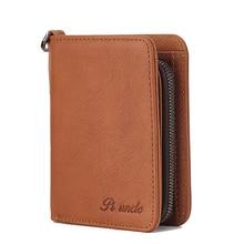 New Men Mini Genuine Leather Wallet Short Style Fashion Sutu