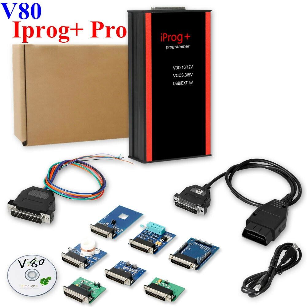 V80 Iprog + klucz programujący wsparcie IMMO + korekta przebiegu + resetowanie poduszki powietrznej Iprog Pro do 2019 r. Wymień Carprog/Digiprog/Tango