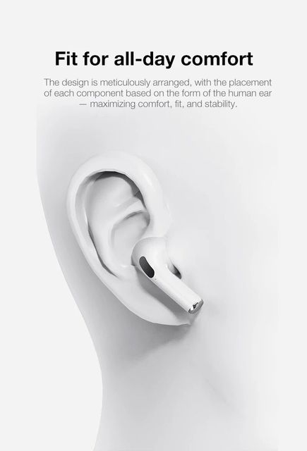 Airpodding Pro 3 Bluetooth Earphone TWS Wireless Headphones HiFi Music Earbuds Sports Gaming Headset For IOS Android Phone 5