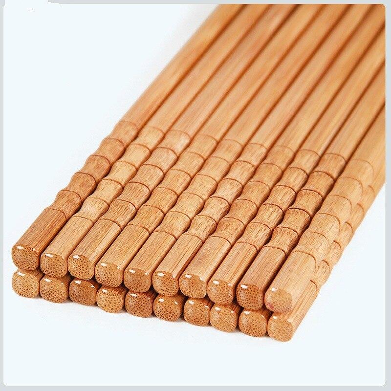 Купить 5 пар ручных палочек для еды из натурального бамбука здоровые