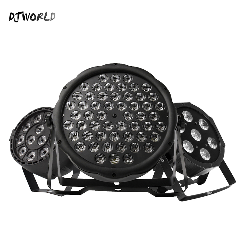 Djworld Top Selling LED Par 7x12W /7x18W/ 54x3W/12x3W RGBW/12x3W Ultraviolet Color  Par DMX512  For Disco DJ Party Light KTV
