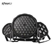 Işıklar ve Aydınlatma'ten Sahne Aydınlatması Efekti'de Djworld en çok satan LED Par 7x12 W/7x1 8 W/54x 3 W/12 x 3W RGBW/12x3 W ultraviyole renk Par DMX512 disko DJ parti ışığı KTV
