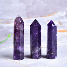 Natural Amethyst Point Crystal Healing Energy Stone Natural Quartz Home Decor Reiki Polished Crafts 50 80mm Stone Carved 1PC