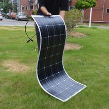 Dokio 12V 100W Flexible monocristallin panneau solaire pour voiture/bateau/maison batterie solaire peut charger 12V étanche panneau solaire chine