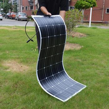 Dokio-elastyczny panel słoneczny 12V 100W monokrystaliczny do samochodu łodzi domu bateria ładowanie wodoodporny Chiny tanie i dobre opinie CN (pochodzenie) NONE 1055x540 1180x540MM DFSP-100M 32 36 Monocrystalline Silicon 22 50V 18 00V 5 81A 5 56A