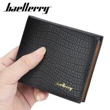 цена на Baellerry Men Wallet Short Men Wallet PU Leather Office Male Purse Card Holder Crocodile Pattern Wallets Mature Man Purse DR025