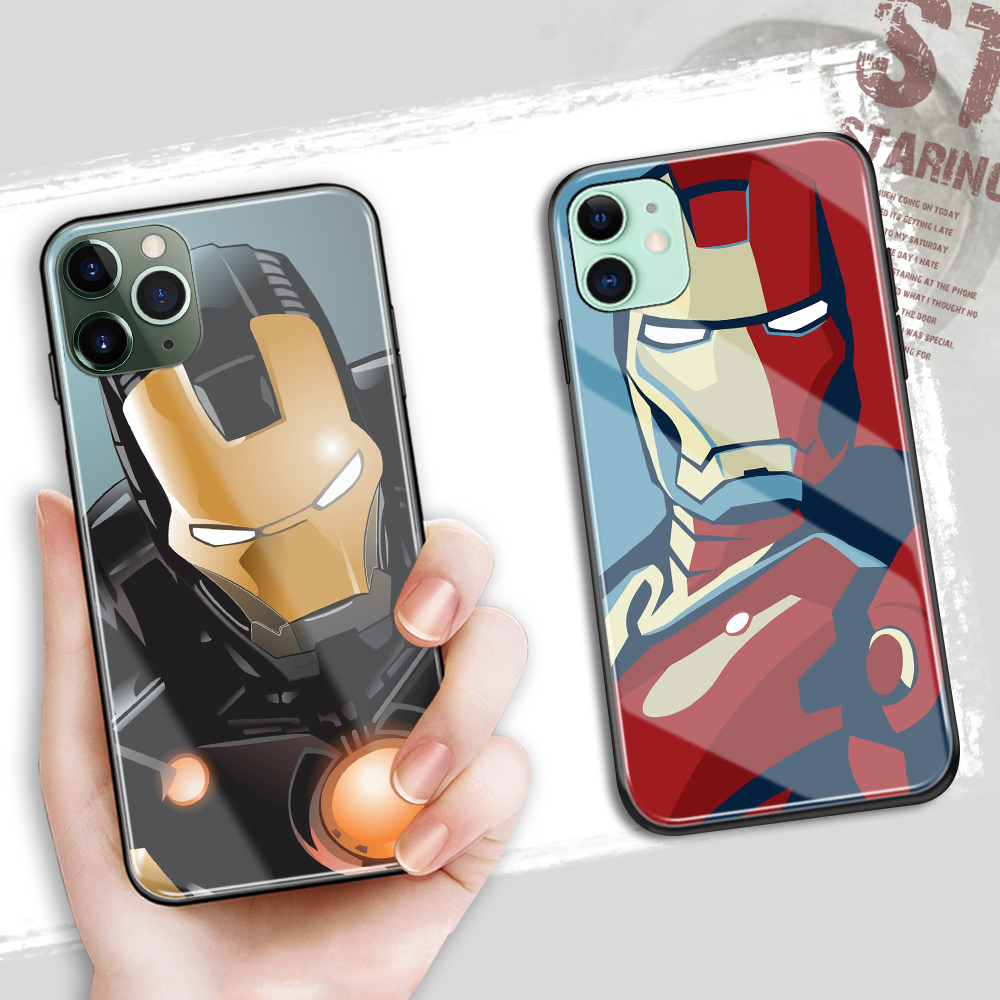FinderCase Coque for iphone 6S Tempered Glass Case Marvel Iron Man Cover for iPhone 6 6S