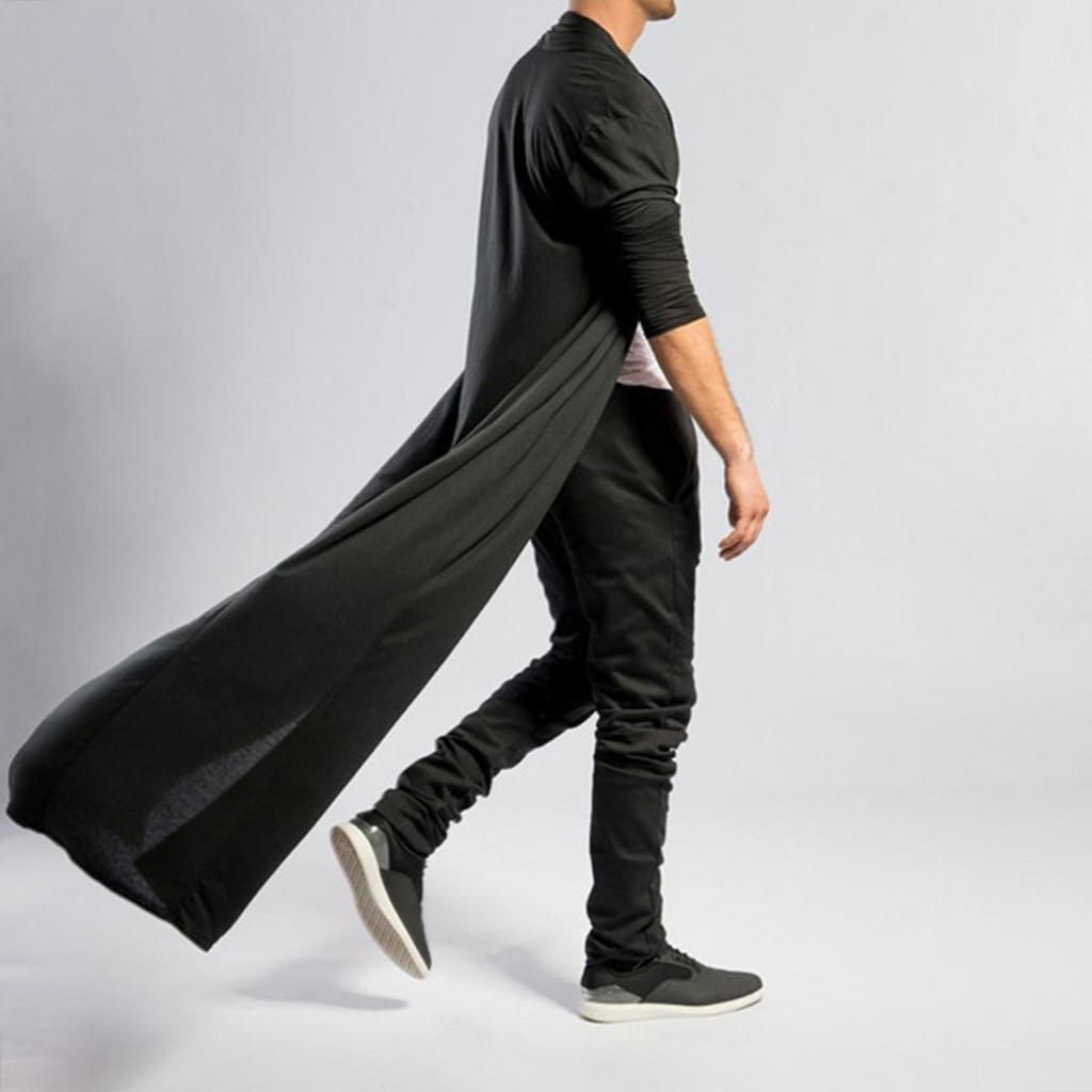 Hdd31530183b749b4b8aba8515d5a8343z Fashion steampunk Men Cardigans 2020 Autumn Casual Slim Long streetwear Shirt trench Long Coat Outerwear Plus Size free shiping