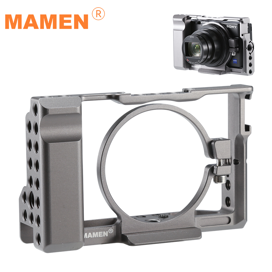 Mamen Camera Cage for Sony <font><b>RX100</b></font> VI/VII M6/M7 Case Hand Grip Photographic Stabilizer 1/4 3/8 inch Screw DIY Camera Accessories image