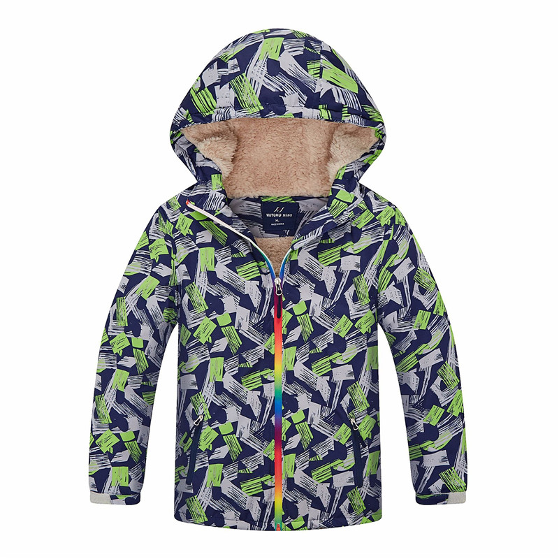 Kids Jacket Coat Boys Girls Autumn Winter Hooded Jacket Child Outwear Sports Waterproof Windproof Thick Warm Coat Children Tops