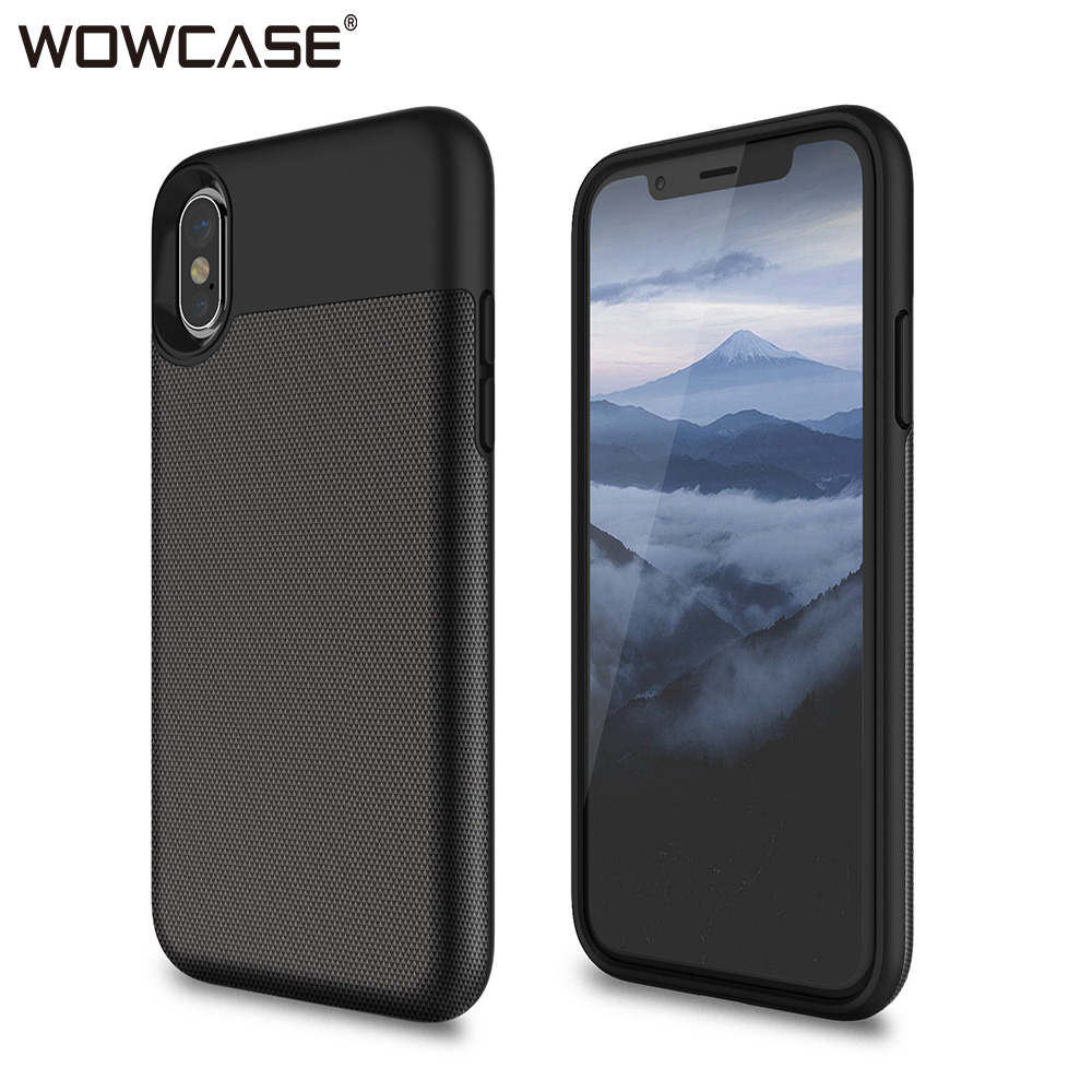 WOWCASE Business Phone Cases For IPhone X XS Case Credit Card Slot Silicone Protector Back Cover For IPhone XS MAX XR 2018 Funda