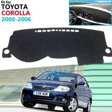 Capa protetora para painel de toyota corolla, tapete de proteção para painel, para toyota corolla e120 e130 2000 2001 2002 2003 2004 2005 2006 carro carro
