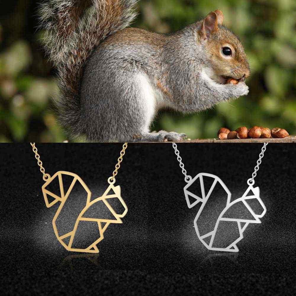 Unikalne biżuteria dla zwierząt naszyjniki dla kobiet 100% ze stali nierdzewnej moda wiewiórka Flamingo Koala wisiorek naszyjnik specjalny prezent