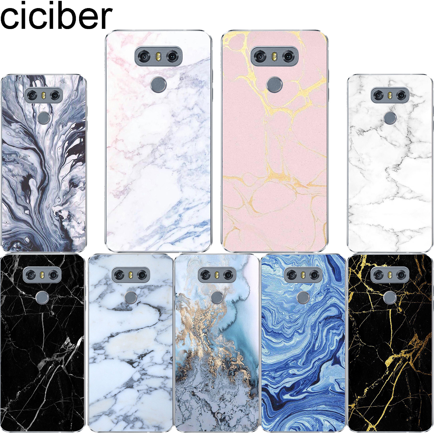 Colored Marble For LG K10 K8 K7 K4 2017 2018 K9 K11 + Soft TPU Phone Case For LG V40 V35 V30 V20 THINQ G7 G6 G5 G4 Coque