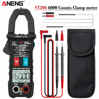 ANENG ST206 Digital Clamp Meter Multimeter 6000 counts True RMS Amp DC/AC Current Clamp measure dc amperimetro tester voltmeter uni t ut89x ut89xd true rms digital multimeter true rms tester ac dc voltmeter ammeter 1000v 20a frequency led measure