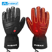 INBIKE Heated Thermal  Bicycle Gloves USB Rechargeable Gloves for MTB Skiing Motocross Warm Motorbike MTB  Electric Cycle Gloves