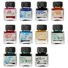 Stationery Fountain-Pen Bottled-Glass Ink Office-Supplies 25ml 11-Colors Refill Smooth