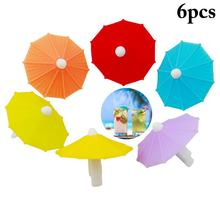 Sign Mark Identifier-Cup Drinking-Buddy Wine Glass Silicone 6pcs Label-Tag Charms Party-Umbrella